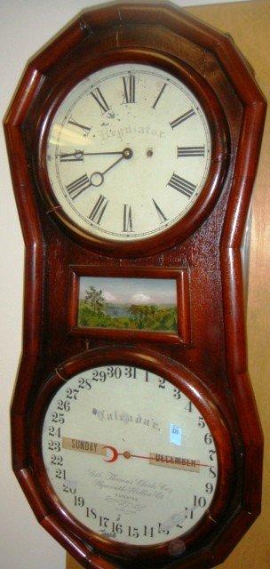 20: Seth Thomas Clock Co. Regulator Calendar Clock. Ply