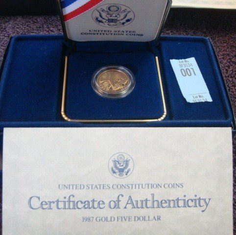 1987 US American Eagle  Proof Gold Coin