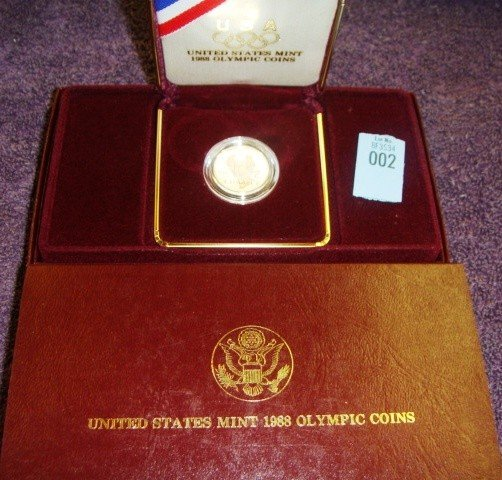 1988 US Olympic $5.00 Gold Coin