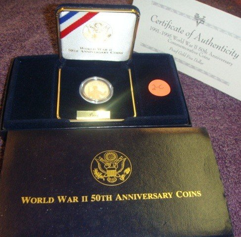 1995 WWII 50th Anniversary $5.00 Gold Coin Proof