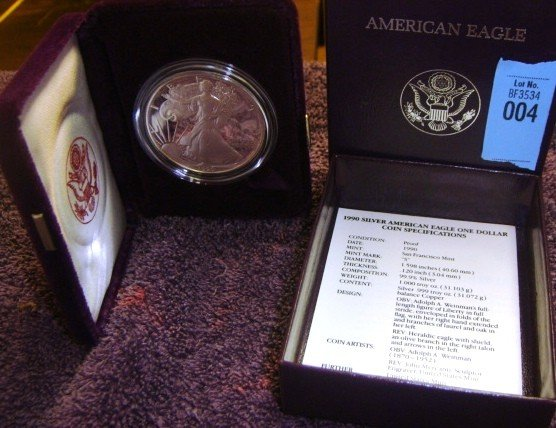 1990 American Eagle Silver Dollar Coin Proof