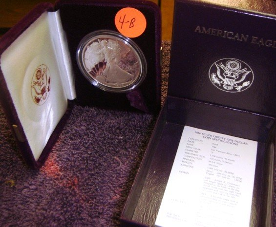 1986 American Eagle Silver Dollar Coin Proof