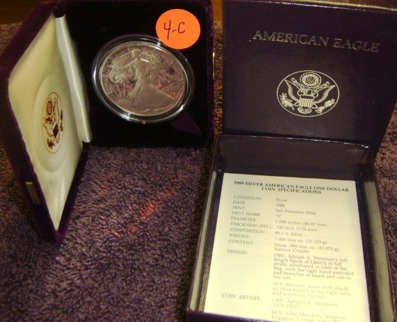 1989 American Eagle Silver Dollar Coin Proof