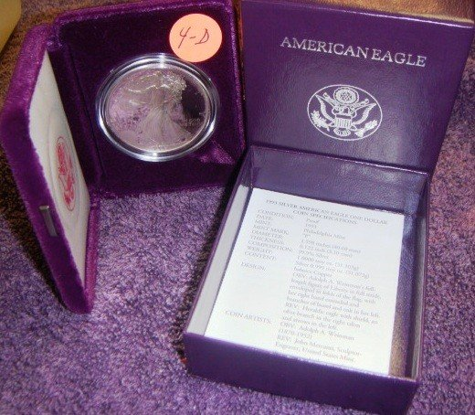 1993 American Eagle Silver Dollar Coin Proof