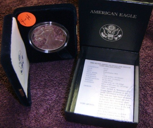 2000 American Eagle Silver Dollar Coin Proof