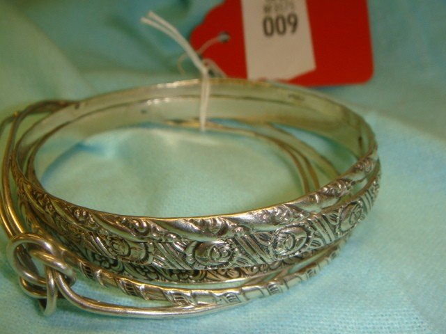 9: 5 Sterling Silver Bracelets