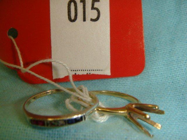15: 2 Gold Rings