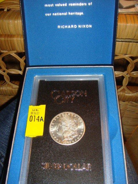 14A: 1883-CC Silver Dollar with Box