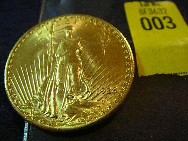 3: 1928 $20 Saint Gaudens Gold Coin