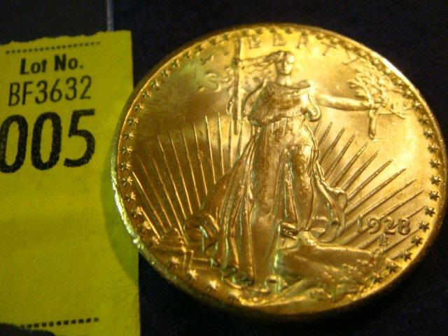 5: 1928 $20 Saint Gaudens Gold Coin