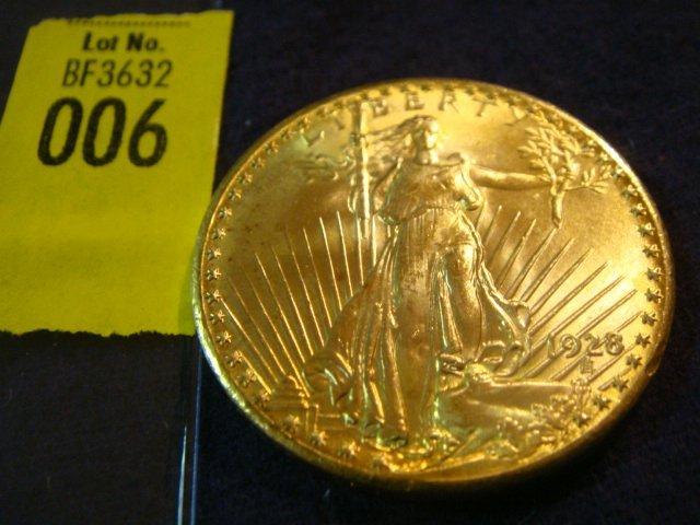 6: 1928 $20 Saint Gaudens Gold Coin