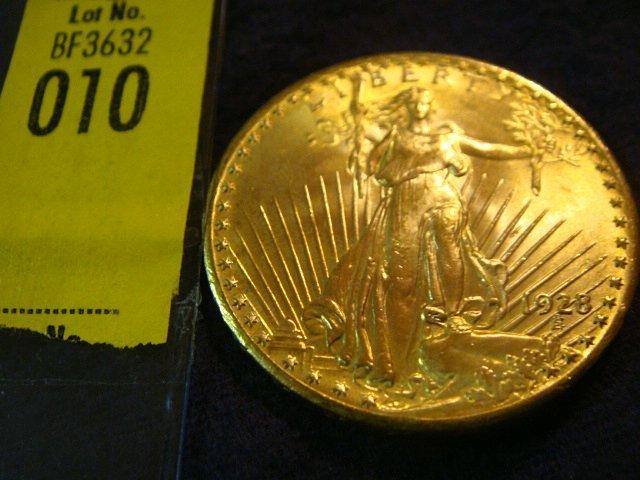 10: 1928 $20 Saint Gaudens Gold Coin