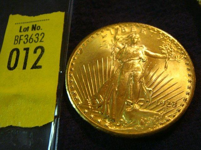 12: 1928 $20 Saint Gaudens Gold Coin