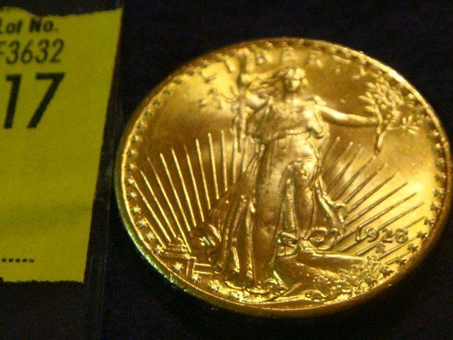 17: 1928 $20 Saint Gaudens Gold Coin