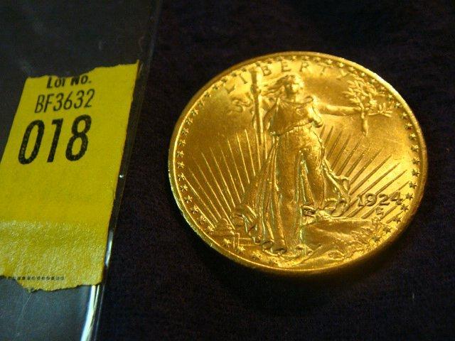 18: 1924 $20 Saint Gaudens Gold Coin
