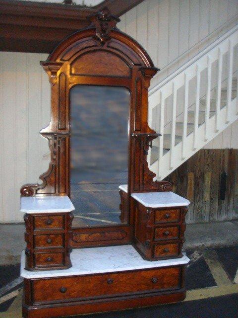 20: Magnificent Vict. Lady's Princess Dresser w Marble