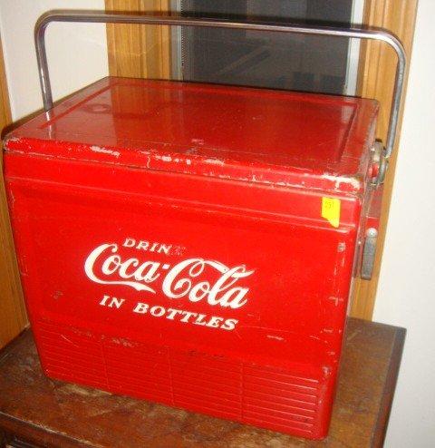 31: Vintage Drink Coca-Cola Metal Cooler