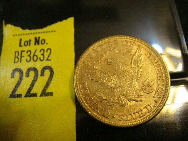 222: 1881 5 Dollar Liberty Gold Coin - 2