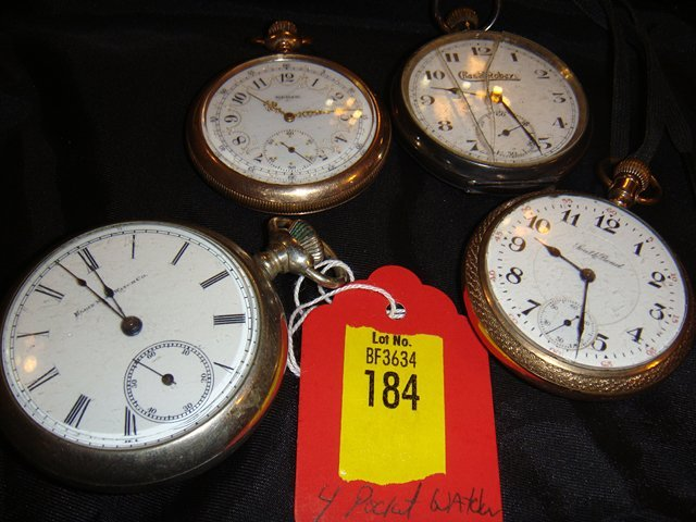 184: Four (4) Pocket Watches