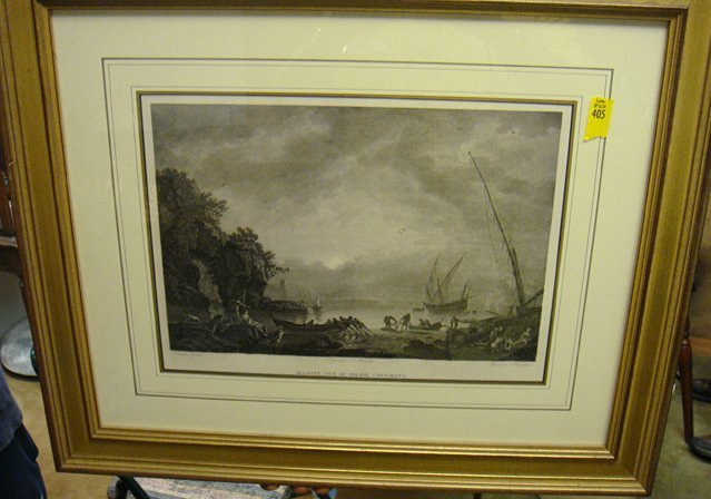 405: 2 Prints; 1795 Paris Framed Copper Eng., from the