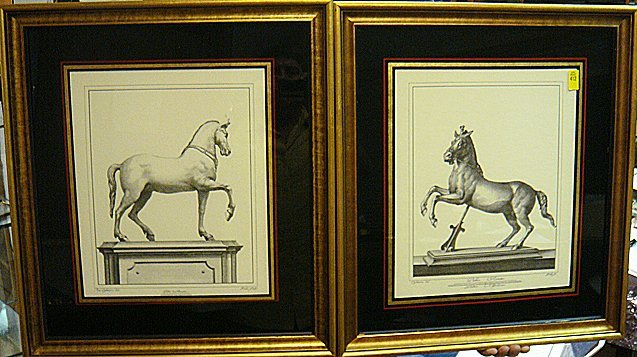 412: Pair of Horse Prints From the Estate
