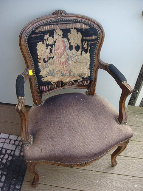 414A: French Carved Arm Chair