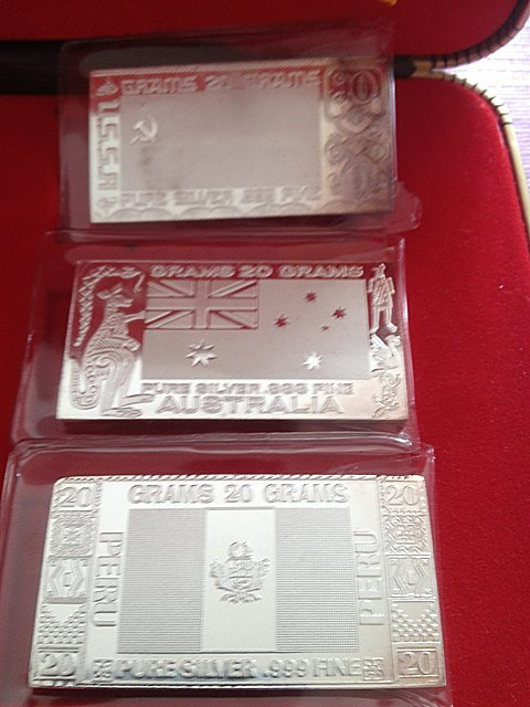 1: Silver Mint 1973 6 Piece .999 Silver Bars - 4