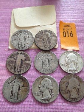 16: 8 Silver Quarters