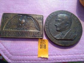 18: 2 Bronze Medallions from Phoenix Mutual Life Insura