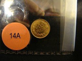 14A: 1945 Gold Mexican DOS-PESOS