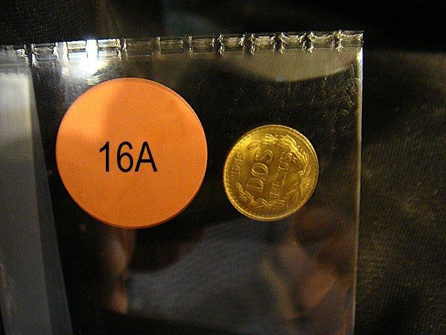 16A: 1945 Gold Mexican DOS-PESOS