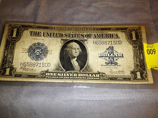 1923 Large Size Silver Certificate