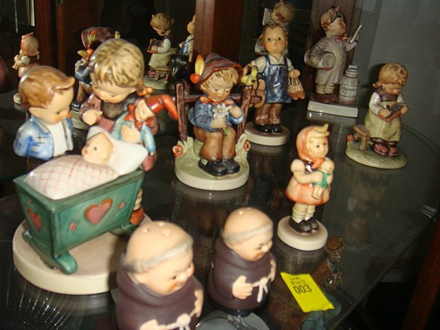 Collection of 12 Hummel Figurines, 3 Goebel Figurines