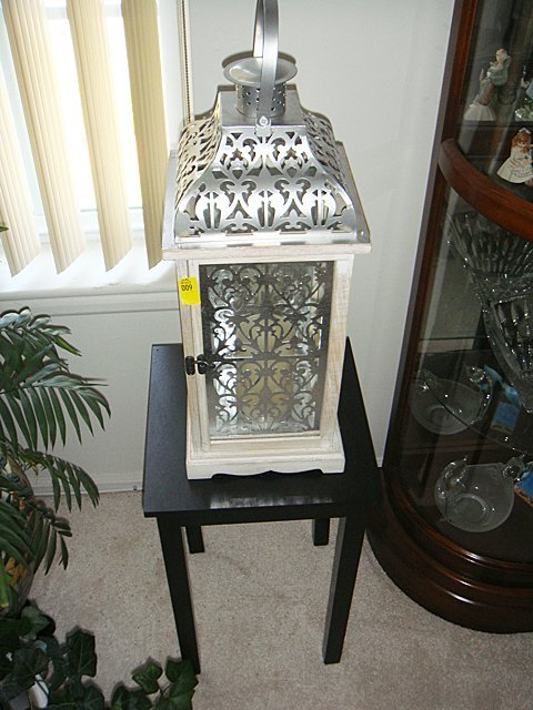 Candle Lamp with Matching Black Stand