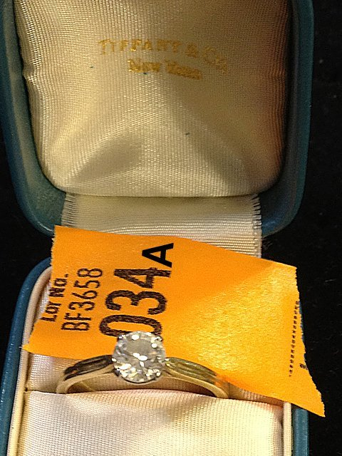 Estate 18kt Gold Tiffany and Co. Ladies Diamond Ring