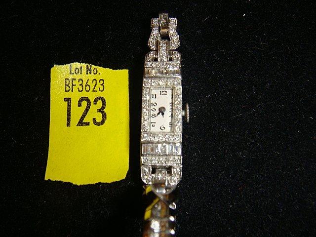 Estate Platinum with Diamonds Ladies Watch