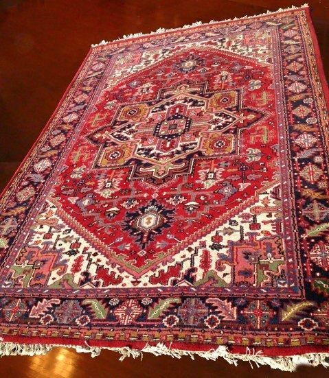 "Beautiful Estate Hand Woven Herez Carpet 9' 9"" x 6' 7"""