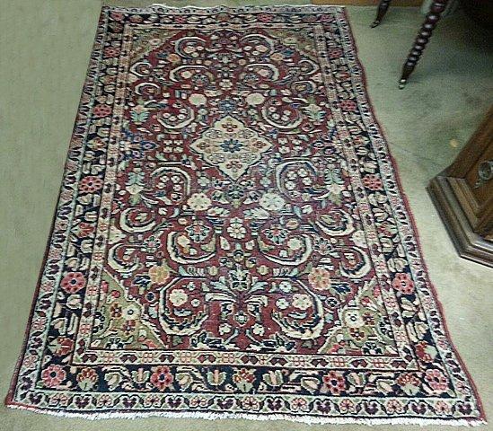 Estate Hand Woven Sarouk Oriental Carpet