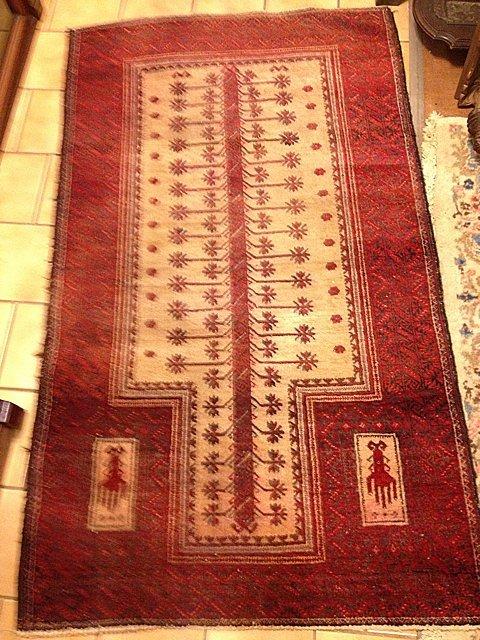 Estate Hand Woven Bluchistan Carpet 3' x 5'