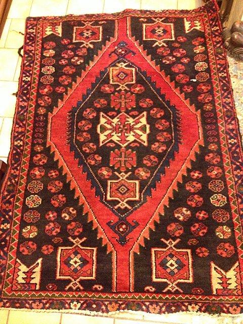 "Estate Hand Woven Hamadan Carpet 42"" x 51"""