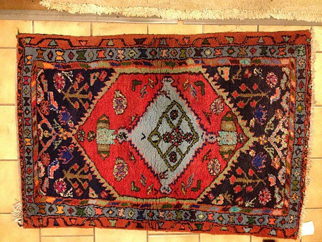 Estate Antique Hand Woven Hamadan Persian Rug