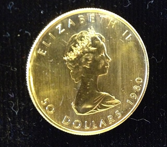 1 Oz. 1980 Maple Leaf Gold Coin