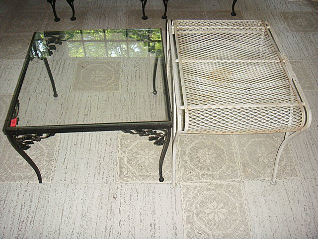 2 Estate Wrought Iron Tables