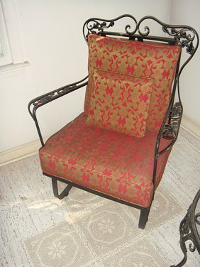 Estate Wrought Iron Spring Chair