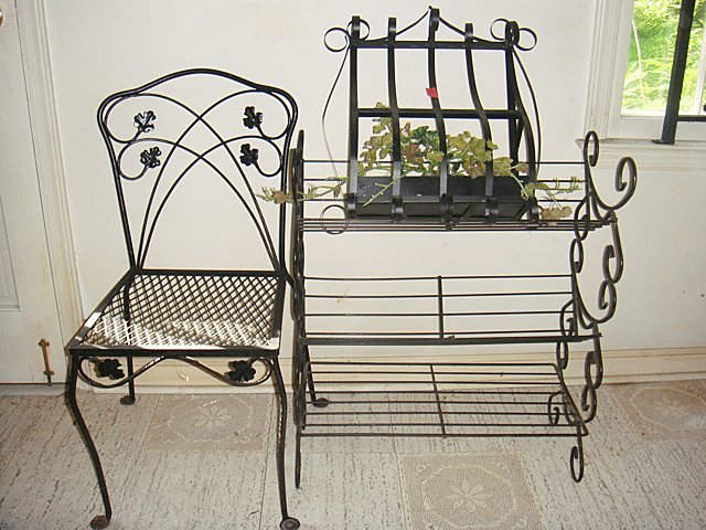3 Estate Pieces of Wrought Iron