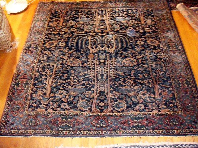 Estate Antique Persian Tabriz Hand Woven Carpet
