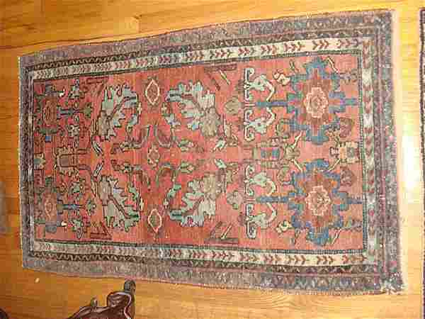 Estate Antique Persian Hamadan Hand Woven Carpet