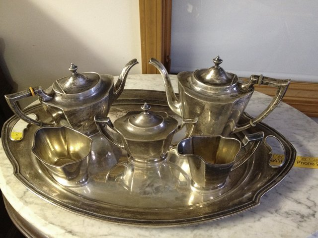 6 Piece Estate Antique Sterling Silver Tea and Coffee