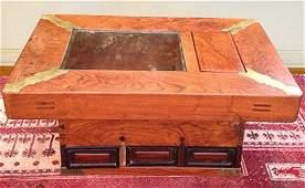 Estate Antique Authentic Japanese Wooden Hibachi