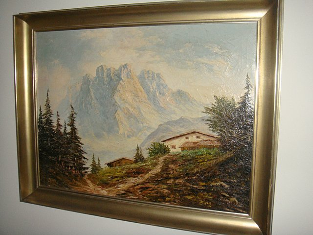 Estate Antique Oil Painting on Canvas